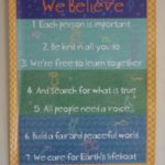 Posters of the Unitarian Universalist children's principles are hung in many of the rooms in Nielsen House and reflect Unitarian Universalist principles.